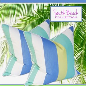 south beach toss pillows