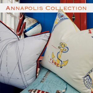 annapolis nautical throw pillows