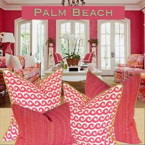 palm beach house pillows