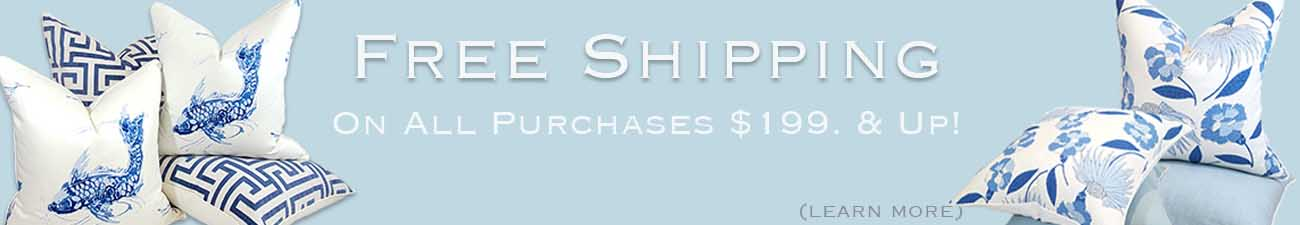 free shipping for pillows