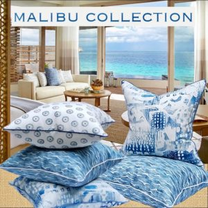 malibu pillows for the beach