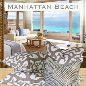 manhattan beach themed pillows
