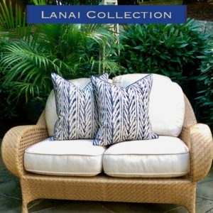 lanai pillows for the beach